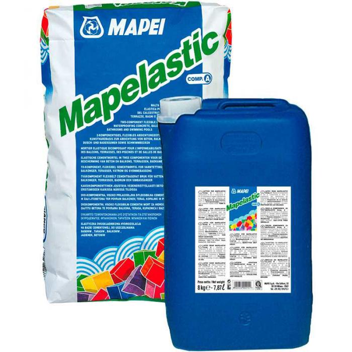 Двухкомпонентная гидроизоляция MAPEI MAPELASTIC (Мапеластик)