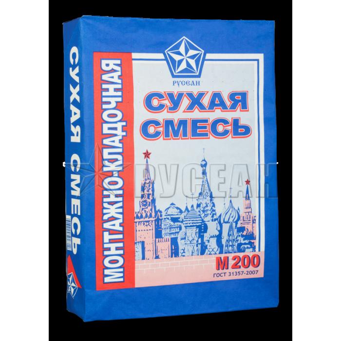 М200 Сухая смесь монтажно-кладочная Русеан 40кг