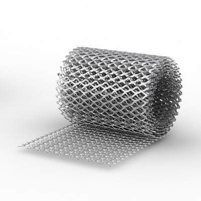 Сетка ЦПВС просечно-вытяжная сечение 0,5мм рулон 1*7м