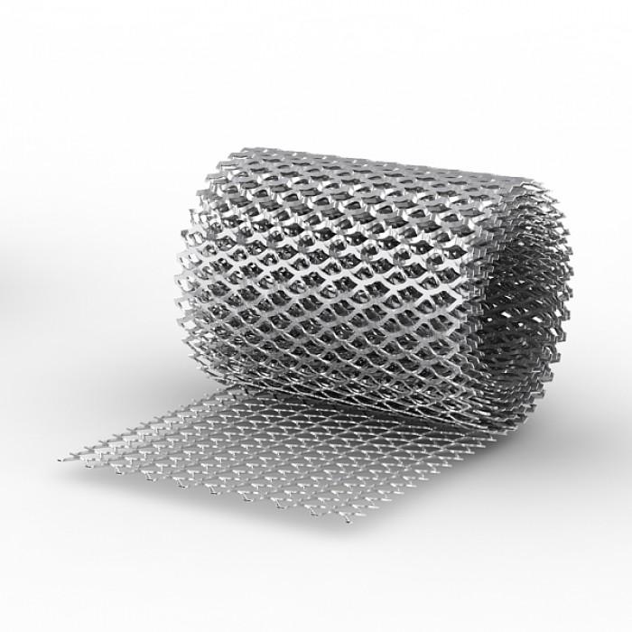 Сетка ЦПВС просечно-вытяжная оцинкованная сечение 0,7мм рулон 1*7м