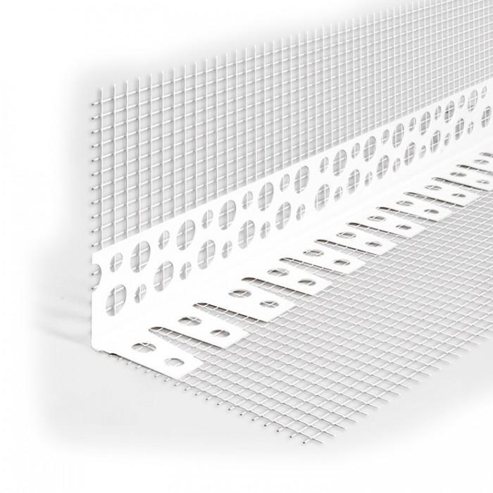 Уголок штукатурный ПВХ с сеткой 100х150мм L=2,5м