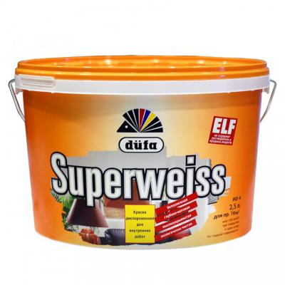 Краска DUFA SUPERWEISS D4 10л Cупербелая