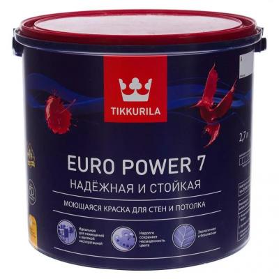 Краска Тиккурила Euro Power 7, 2,7л