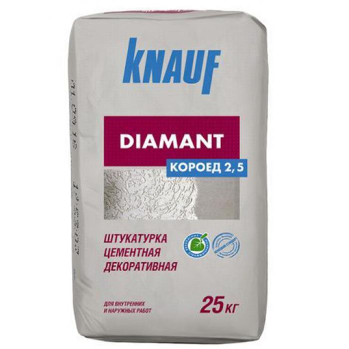 Декоративная штукатурка Диамант 2,5 (короед) Кнауф 25кг