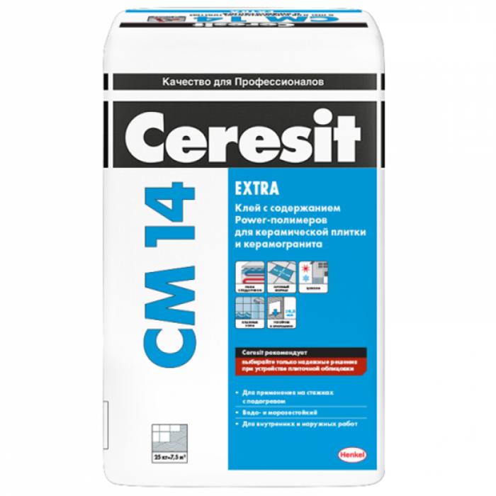 Клей для керамогранита Ceresit CM 14 (Серезит СМ 14) 25кг