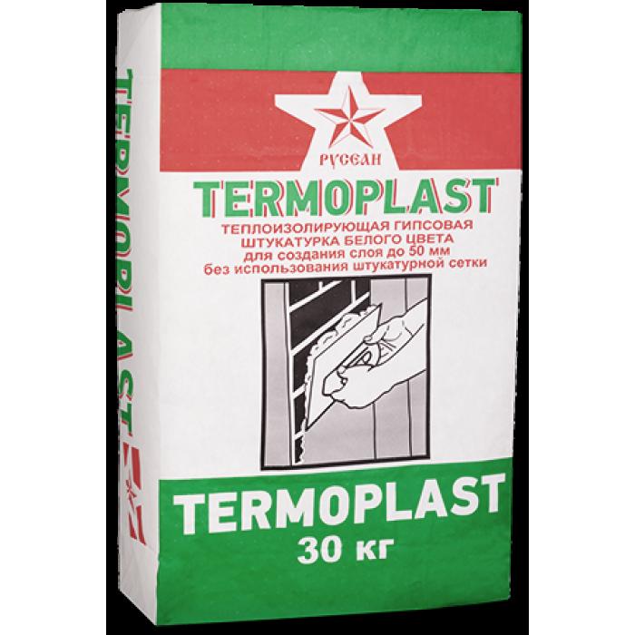 Гипсовая штукатурка Термопласт Русеан белая 30кг
