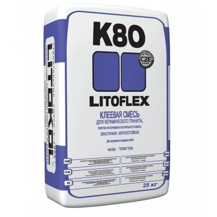 Клей для укладки плитки Литокол Литофлекс К80 25кг