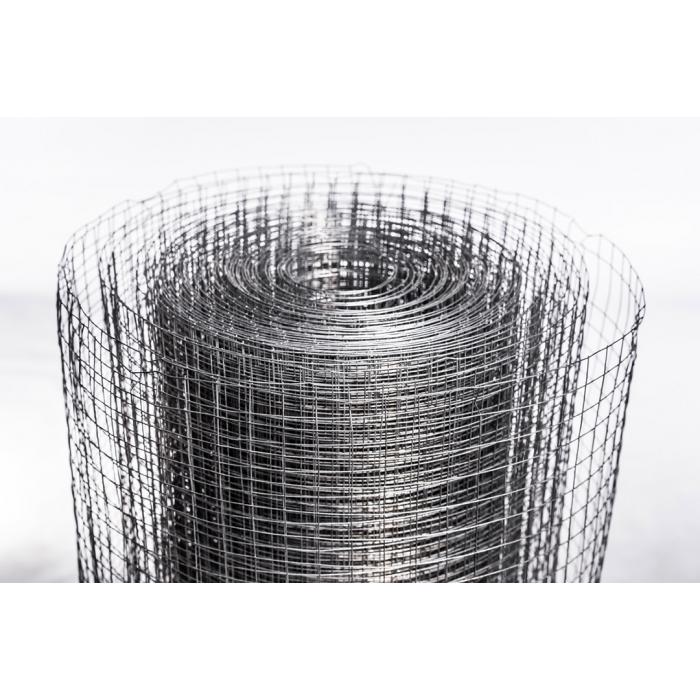 Сетка сварная в рулонах 1х15м яч.10х10мм толщ.0,8мм оцинкованная