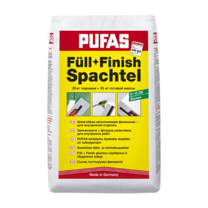Шпатлевка финишная Pufas Full+Finish 20 кг
